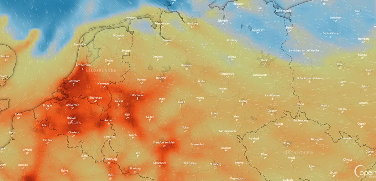 Wetter in Mülheim: Nebel, Wind, Feuchtigkeit und Sonnenstunden