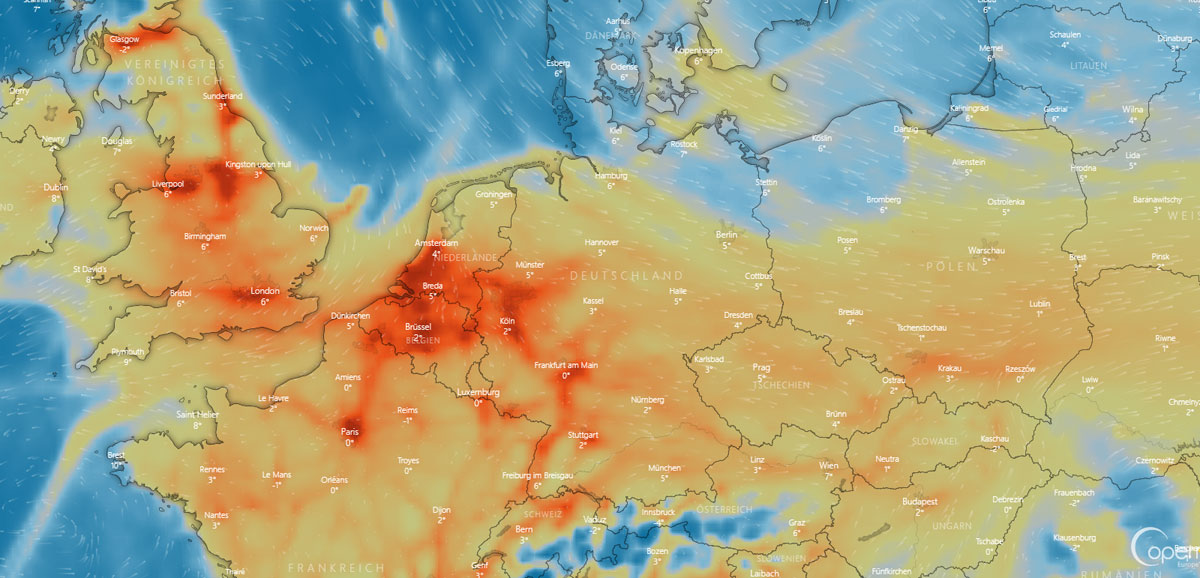 Wetter in Krefeld: Wind, Sonne und Wochenende