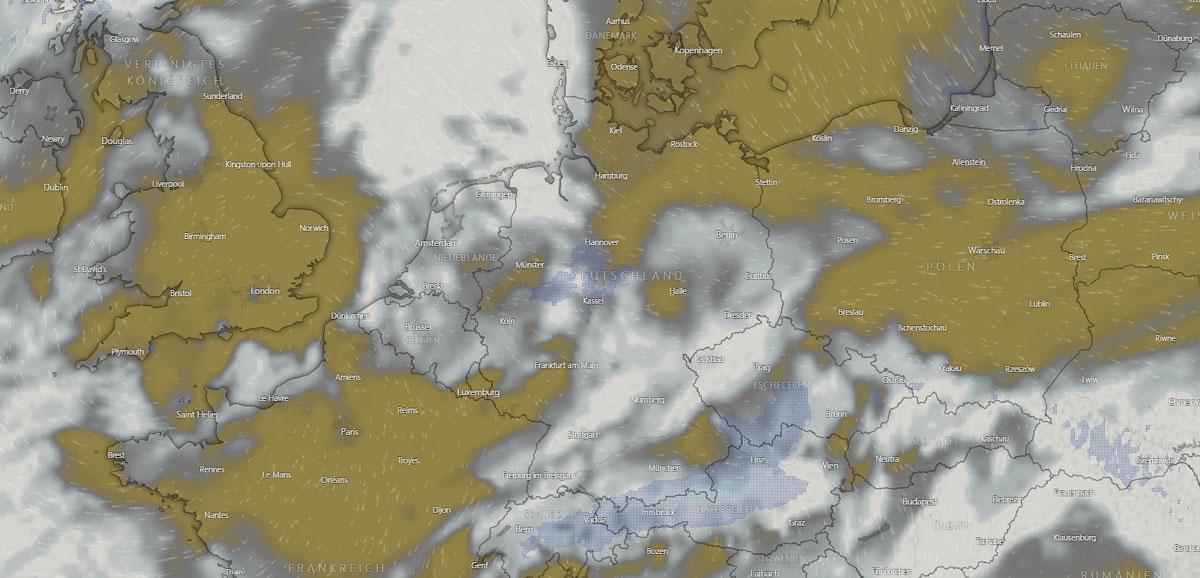 Wetter in Magdeburg: Wolken, Hausbau und Regen