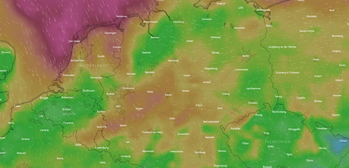 Wetter in Wolfsburg: Feuchtigkeit, Wind, Vorhersage und Sturm