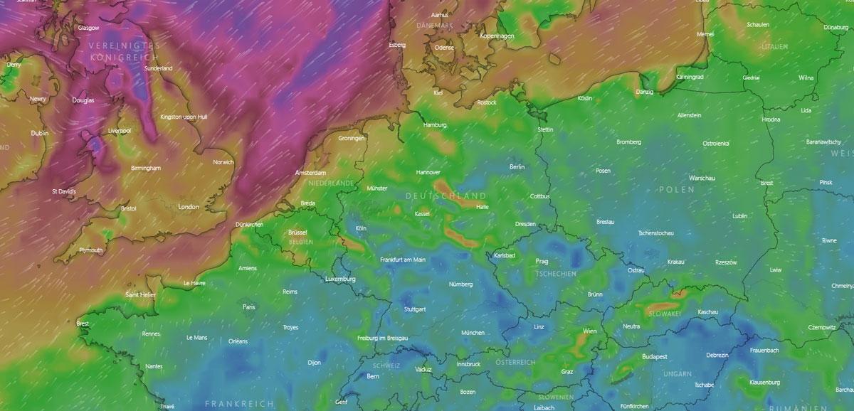 Wettertendenz in Erfurt: Nebel, Feuchtigkeit, Sturm und Wochenende