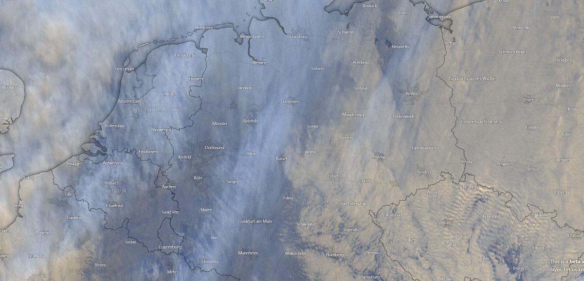 Wettertendenz in Hannover: Temperatur, Wolken und Regen
